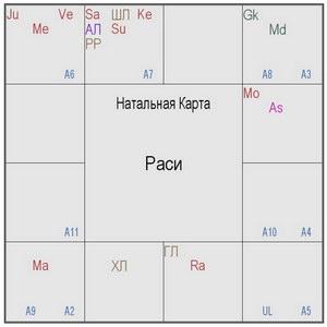 """Вишока дас """"Больше об астрологической карте Джаянанды"""""""