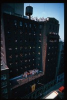 Шрила Прабхупада и преданные. Здание храма в Нью-Йорке, 1976 г.