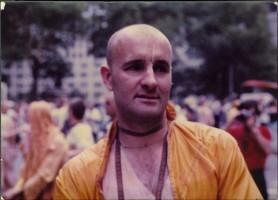 Джаянанда перед началом шествия Ратха-ятры