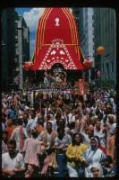 Джаянанда управляет ведущей колесницей Господа Джаганнатхи