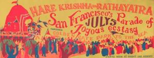 Афиша фестиваля Ратха-ятры в Сан-Франциско 1969 г.