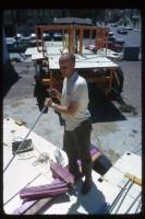 Джаянанда на месте строительства колесниц. Июль 1973 г.