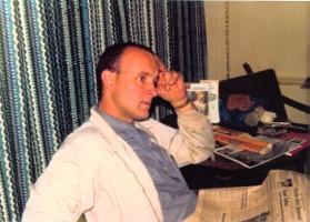 Джаянанда на встрече с родителями в мотеле. Невада, 1974 г.
