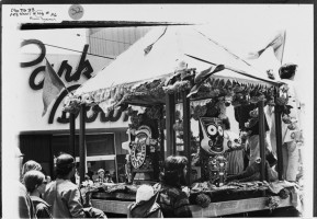 Первая Ратха-ятра на грузовике с открытым кузовом