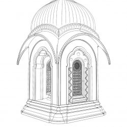 Дизайн-проект самадхи для Джаянанды Тхакура